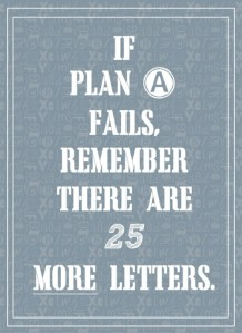 If plan A fails quote