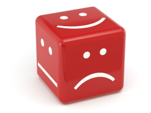 red dice of mood