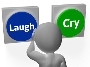 laugh and cry buttons300