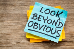 look beyond obvious note