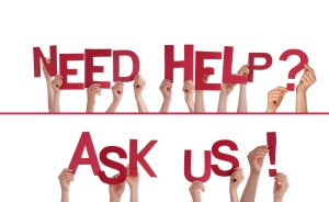 Hands Holding Need Help, Ask Us