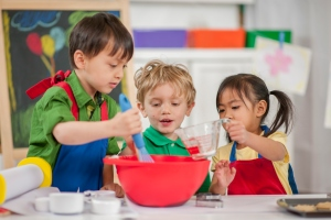 Children Baking at School
