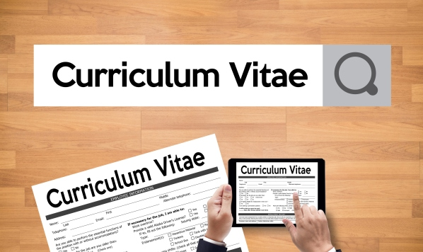 CV - Curriculum Vitae (Job interview concept with business CV resume) , BUSINESS OFFICE BUSINESSMAN WORKING application job