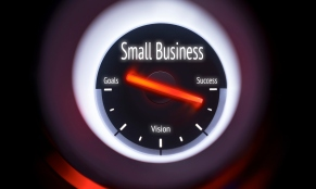 Electronic gauge displaying a Small Business Concept