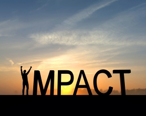 Impact success silhouette