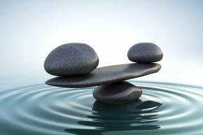 Zen stones balance.