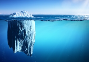 Iceberg - Appearance And Global Warming Concept
