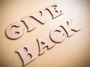 Give Back Motivational Words Quotes Concept