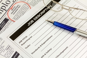 Job Description with Pen and Spectacles