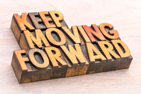 keep moving forward word abstract typography