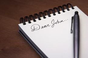 Dear John Letter with Pen