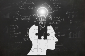 Math mathematics formulas exam science idea innovation head silhouette