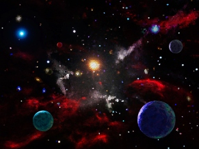 Blended Concept Outer Space Background